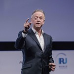 Nick Earle during Plenary 3 session at IRU World Congress