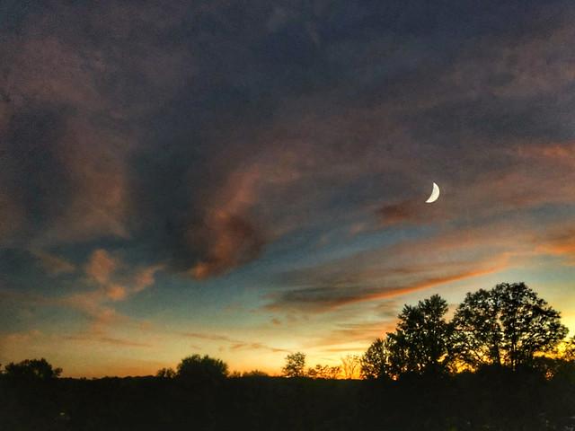 Sun & Moon over Rocky Ridge
