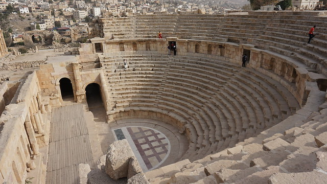 The North Theater, the Roman Ruins of Jerash, Jordan.