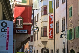 Bolzano.  Where Italy meets Austria, where street signage is elevated to a graphic art form.