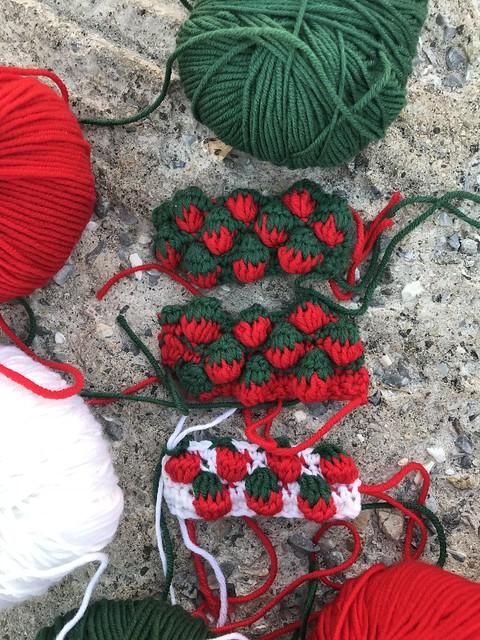 Drei Varianten Strawberry stitch