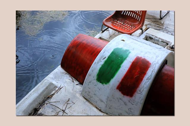 it rains upon Italy
