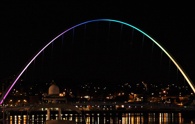 Millennium Bridge - Rainbow Lights