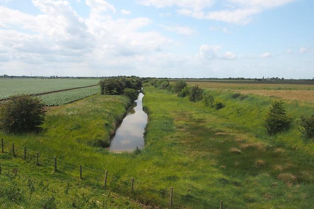 Drainage ditch on Frampton Marsh