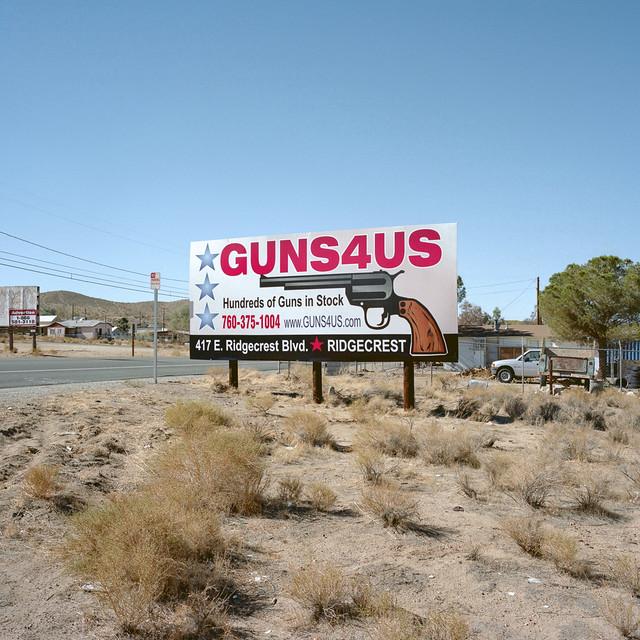 guns. mojave desert, ca. 2012.