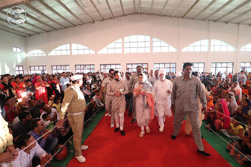 Arrival of Her Holiness in the Satsang Pandal