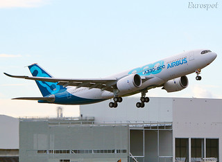 F-WTTO AIRBUS A330-800 Maiden flight | by @Eurospot