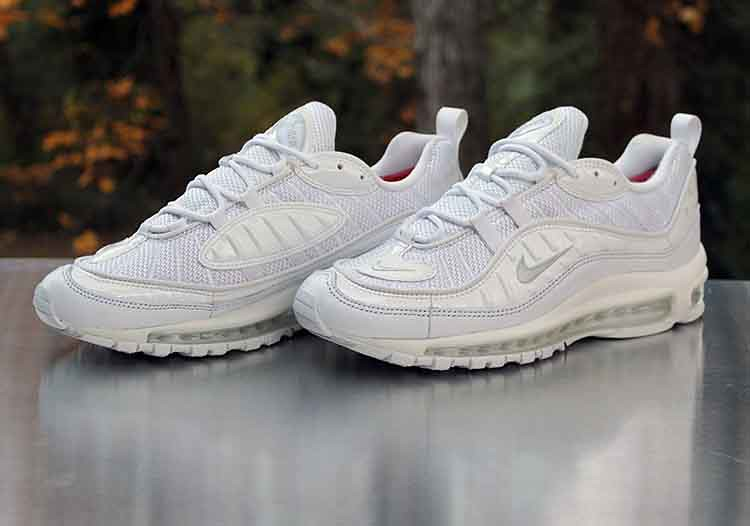 size 40 3f2d4 07b85 Nike Air Max 98 Triple White Pure Platinum 640744-106 Men ...