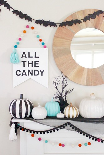 7 Beautifully Decorated Halloween Mantels | by Melissa Hillier