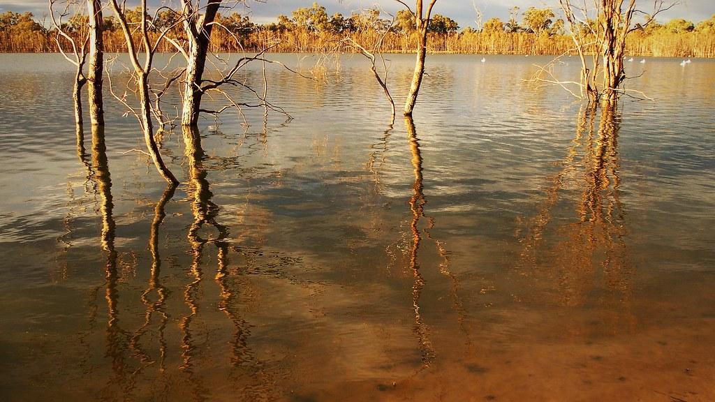 Hattah Lake Reflections, Hattah-Kulkyne National Park, Victoria, Australia