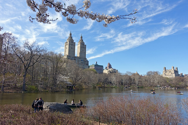 The San Remo Building as seen from Central Park in New York City, NY