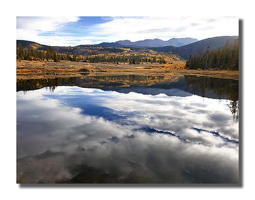 colorado autumn reflection
