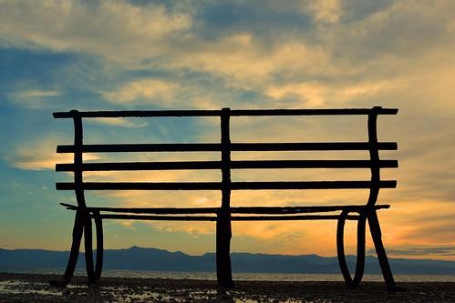 sunrise bench sidari corfu