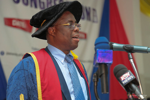 Prof. Joseph Ghartey Ampiah, Vice-Chancellor, University of Cape Coast delivering his address to the congregation.