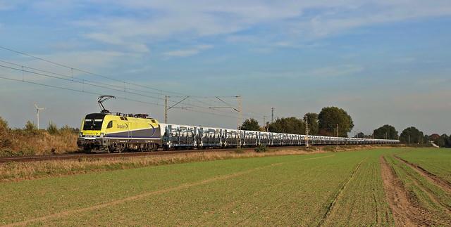 CargoServ/LTE 182 580 mit Mercedes G-Klasse auf Touax Wagen, Etelsen, 09.10.18