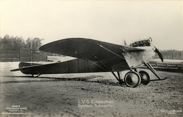 The L.V.G. monoplane fitted with a NAG engine seen at Johannisthal (Berlin) [Germany, 1912]