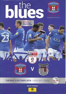 Carlisle United V Grimsby Town 2-10-18 | by cumbriangroundhopper
