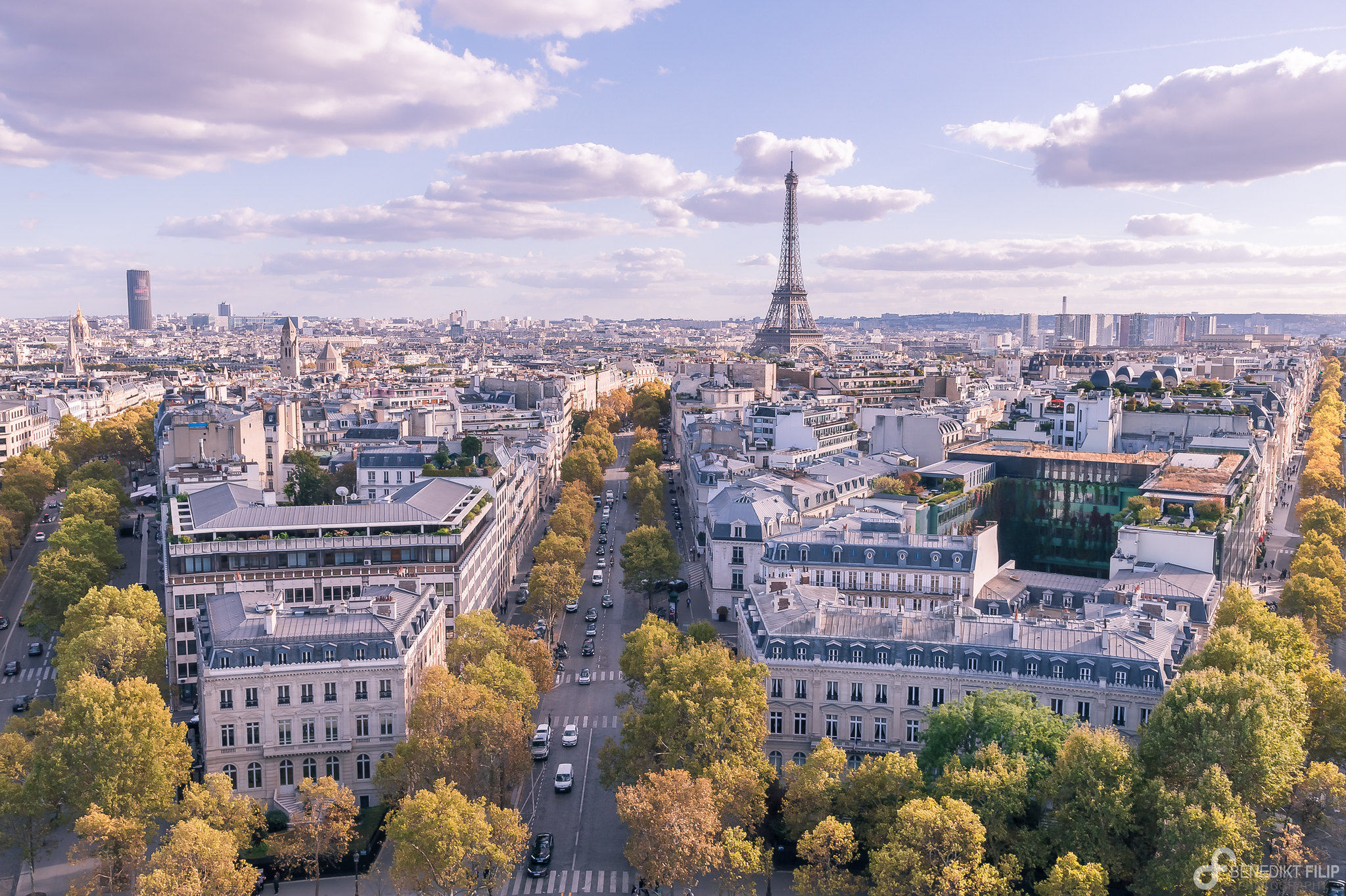 Paris, city of love in autumn