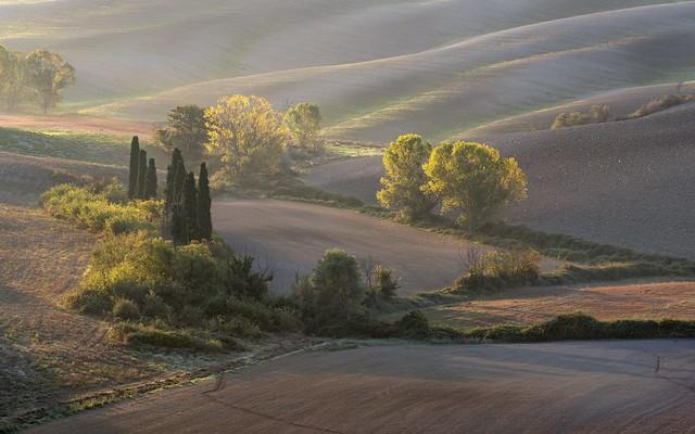 *Val d'Orcia @ autumn colors*