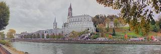 the Sanctuary of Our Lady of Lourdes 5 Image Stitch   by Fletch in HI