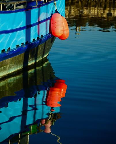 Harbor Reflections, Coastal Oregon