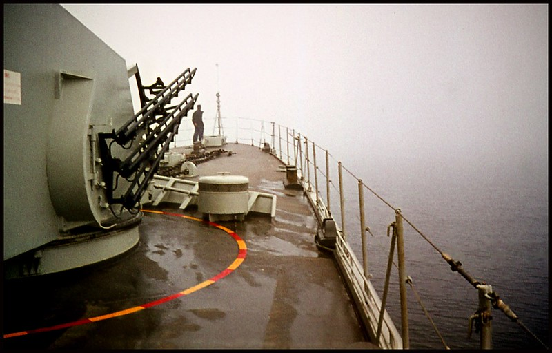 A foggy morning in the Swedish Navy... 1971.