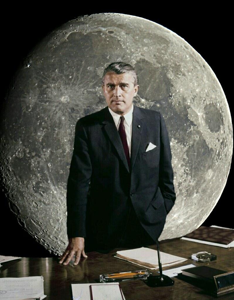 Wernher Von Braun Tells The Story Of Apollo 11 Footprint