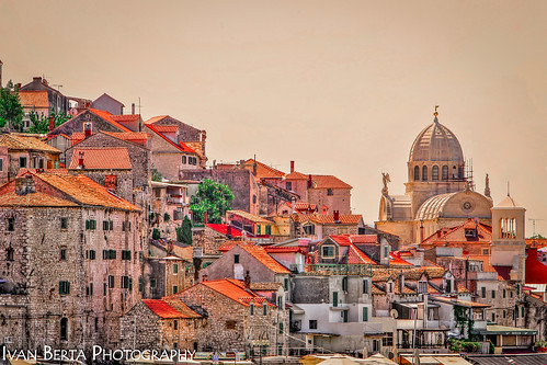 croatia europe sibenik architecture church old town city window building sky holiday summer