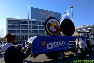 Oreo Deforestation Message In Chicago | by Greenpeace USA 2019