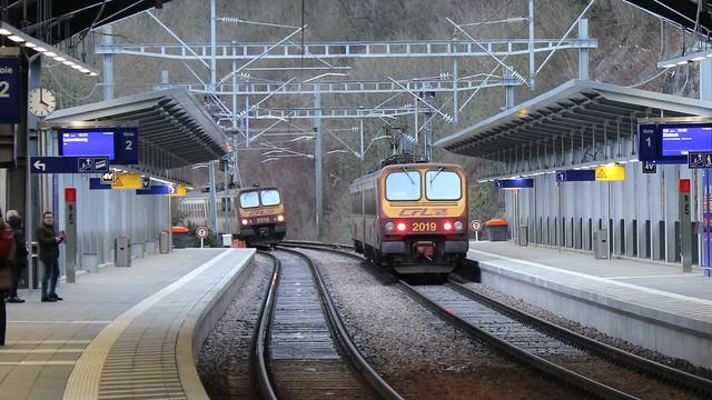 Bahnhof Pfaffenthal-Kirchberg in Luxemburg