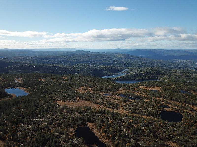 43-Utsikt sørover fra Hovlandsfjell (drone)