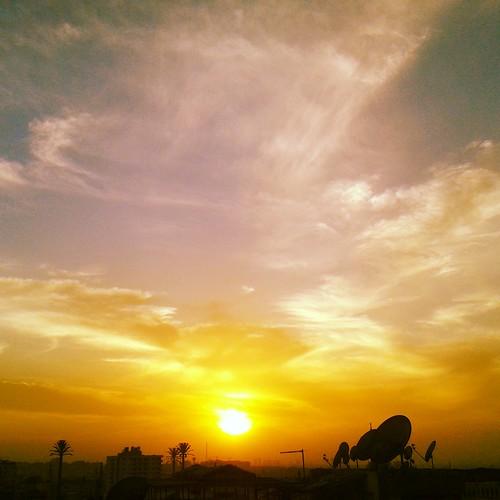 sky sun sunset sundown egypt cairo dusk