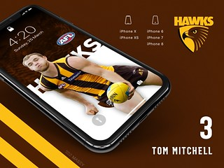 #3 Tom Mitchell (Hawthorn Hawks) iPhone Wallpapers | by Rob Masefield (masey.co)
