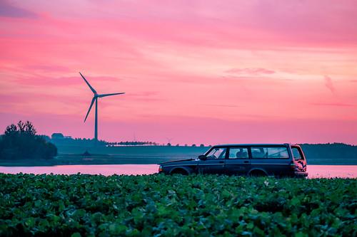 wind skåne sunset loop sweden skurup lake volvo turbine