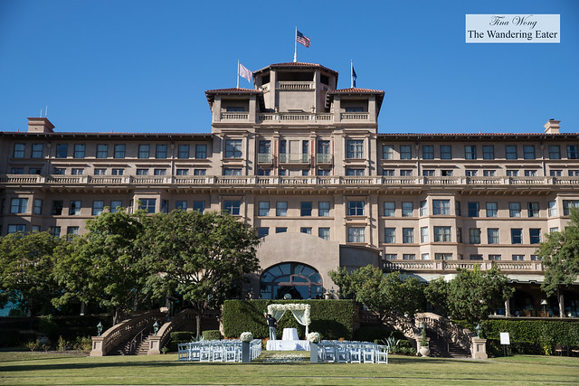 Partial exterior of the vast Langham Pasadena