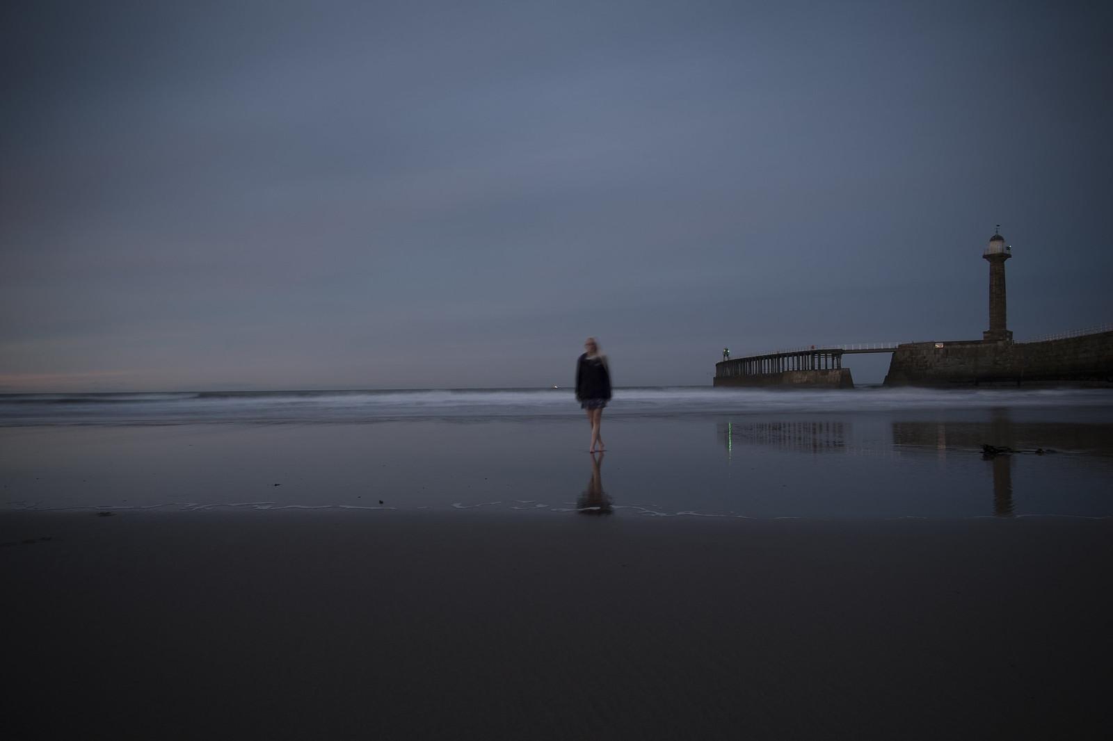 Rachel at Whitby Beach