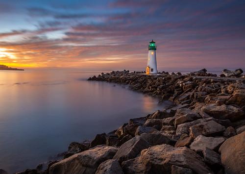longexposurephotography landscapes landscape lighthouse sunrise sky santacruz walton seascape seashore california clouds canon5dmkii color canon24105mmf4l coast coastline
