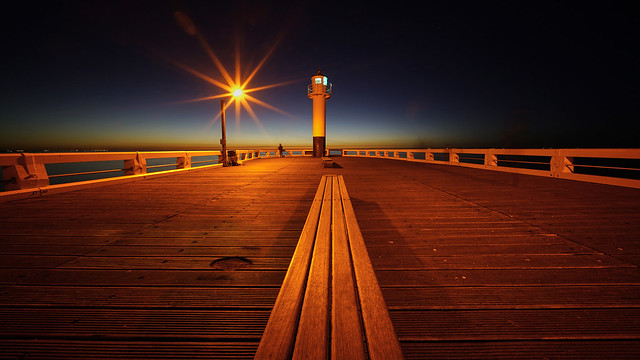 a star on the pier