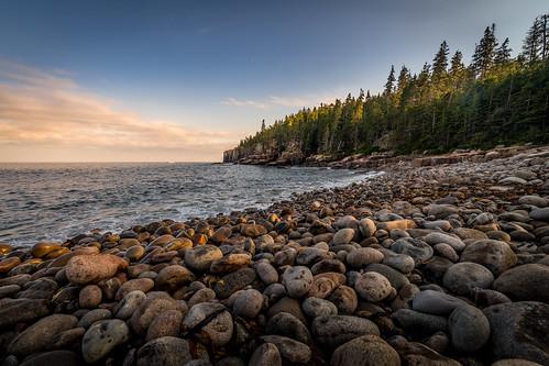 canoneos5dmarkiv rokinon 14mm boulderbeach arcadianationalpark sunset tarde atardecer beach boulders ottercliffs evening wideangle fall classic