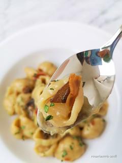 pasta patate porcini e bacon 5 | by rosaria68