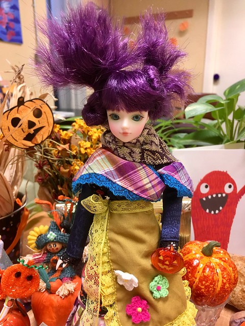 Picasso St. East J-Doll visiting at work for Halloween.