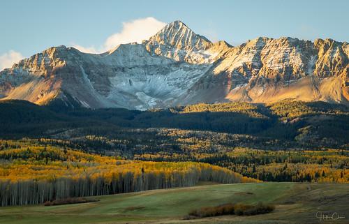 mountwilson autumn fallcolors landscape wilsonmesa sanjuanmountains colorado aspentrees sunrise telluride unitedstates us