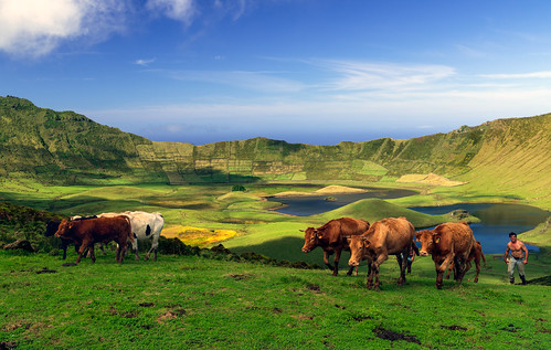 Corvo Island. Azoren.