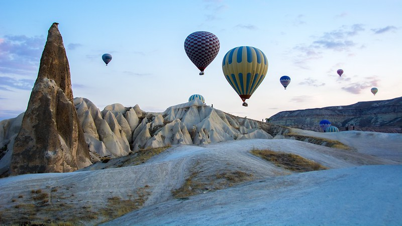 CAPPADOCIA Göreme National Park and the Rock Sites. World Heritage List. Turkey.  Hot Air Ballooning Cappadocia
