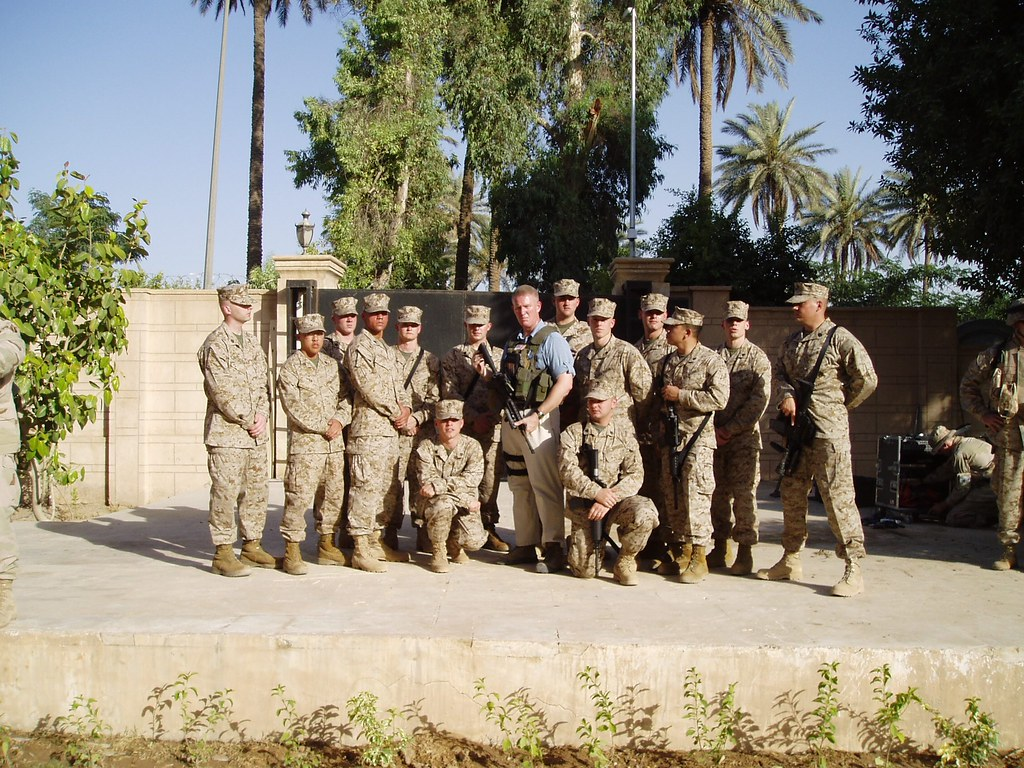 Marine Security Guards at the US Embassy in Baghdad, Iraq