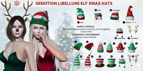 SEmotion Libellune Elf Xmas Hats Gacha Set @ Equal10 | by Marie Sims