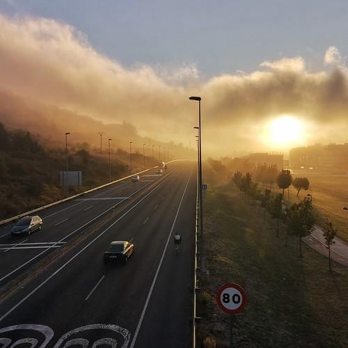 niebla sunrise huaweip20pro amanecer ciclismo roadbike fog