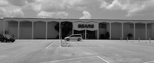 sears melbourne brevardcounty florida retail store closing blackandwhite 1960s 60s departmentstore