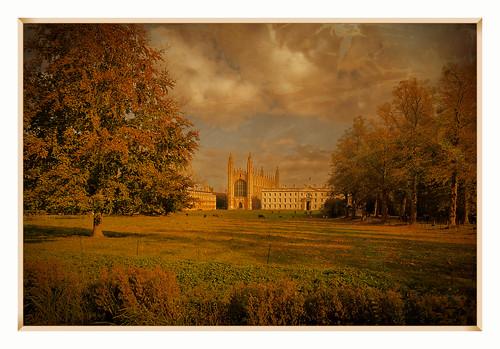 cambridge thebacks kingscollege autumn cambridgecolour