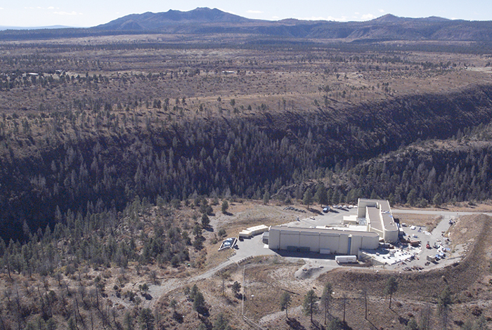 An aerial view of the DARHT facility at LANL.